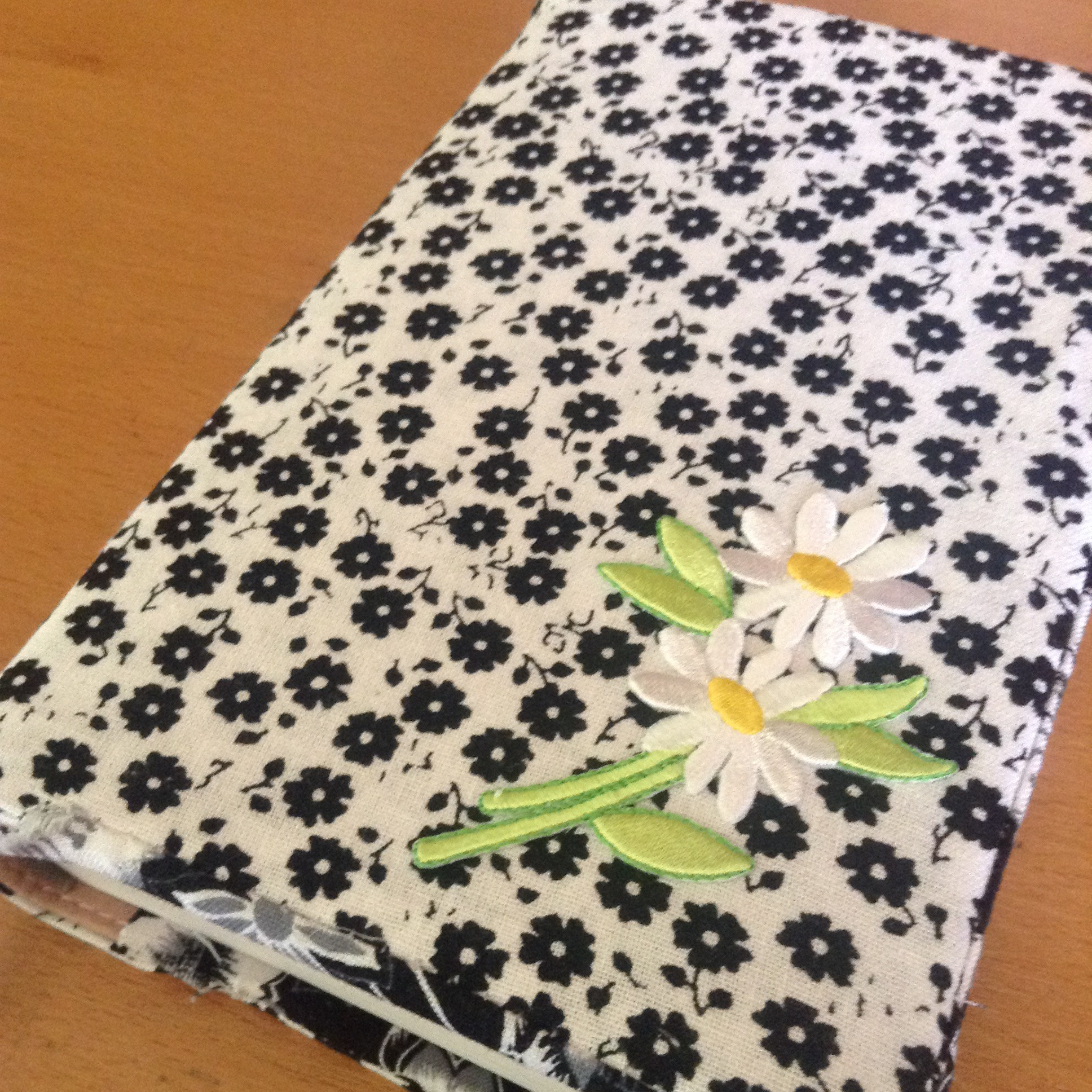 flower fabric floral Bible cover book holder homemade sewn